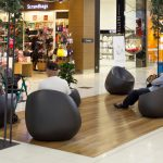 Shoppers relaxing at NorthWest Shopping Centre