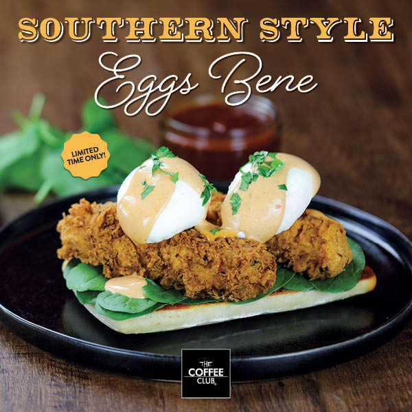 Southern Style Eggs Bene at The Coffee Club